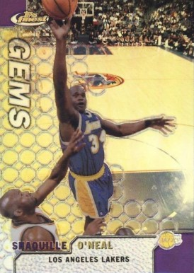 1999 Finest Refractor Shaquille O'Neal #106 Basketball Card