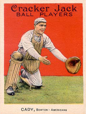 1915 Cracker Jack CADY, Boston-Americans #87 Baseball Card