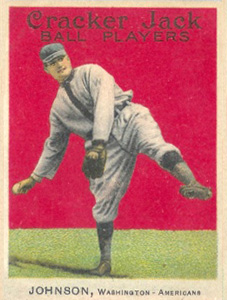 1915 Cracker Jack Walter Johnson #57 Baseball Card