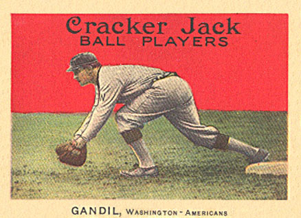 1915 Cracker Jack Gandil, Washington-Americans #39 Baseball Card