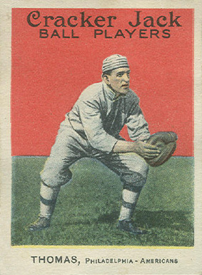 1915 Cracker Jack THOMAS, Philadelphia-Americans #34 Baseball Card