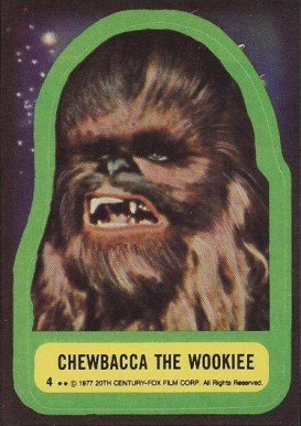 1977 Star Wars Stickers Chewbacca the Wookie #4 Non-Sports Card