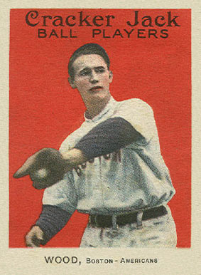 1915 Cracker Jack Joe Wood #22 Baseball Card