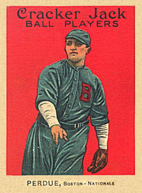 1914 Cracker Jack Perdue, Boston-Nationals #121 Baseball Card
