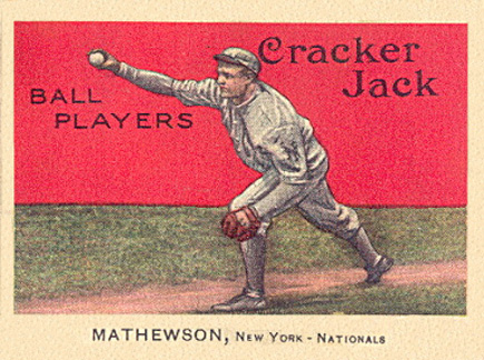 1914 Cracker Jack Christy Mathewson #88 Baseball Card