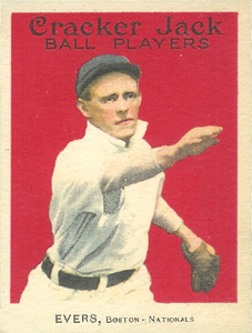 1914 Cracker Jack Johnny Evers #18 Baseball Card