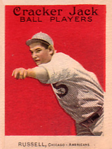 1914 Cracker Jack Reb Russell #15 Baseball Card