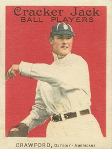 1914 Cracker Jack Sam Crawford #14 Baseball Card