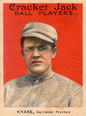 1914 Cracker Jack Otto Knabe #1 Baseball Card