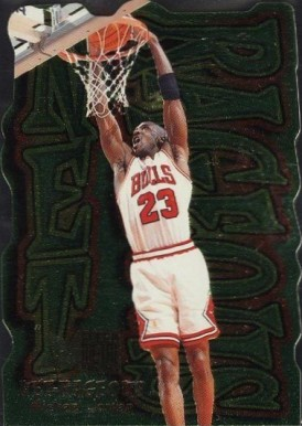 1996 Metal Net Rageous  Michael Jordan #5 Basketball Card
