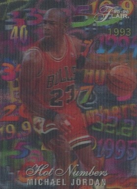 1995 Flair Hot Numbers Michael  Jordan #4 Basketball Card
