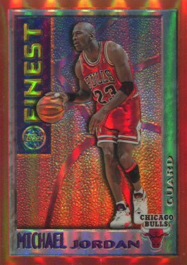 1995 Finest Mystery Orange Bordered Test Refractor Michael Jordan #1 Basketball Card