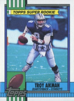 Troy Aikman Hall Of Fame Football Cards