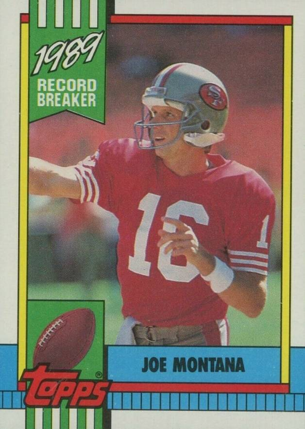 1990 Topps Joe Montana #1 Football Card