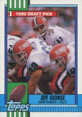 1990 Topps Jeff George #298 Football Card