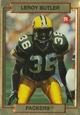 1990 Action Packed Rookie Update Leroy Butler #10 Football Card