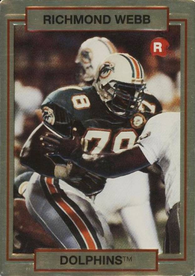 1990 Action Packed Rookie Update Richmond Webb #2 Football Card
