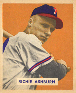 1949 Bowman Richie Ashburn #214 Baseball Card