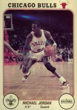 1985 Bulls Interlake Michael Jordan #1 Basketball Card