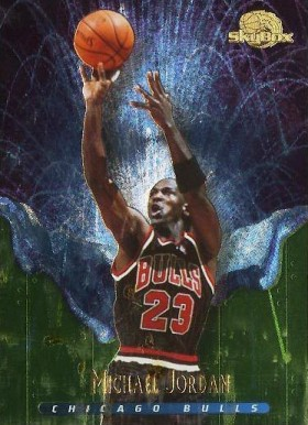 1995 Skybox Premium Meltdown Michael Jordan #1 Basketball Card