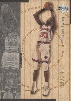 1998 UD Hardcourt Holding Court Silver Jordan/Ewing #18 Basketball Card