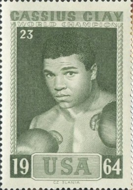1964 Slania Stamps World Champion Boxers Cassius Clay #23 Boxing & Other Card
