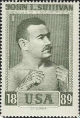 1964 Slania Stamps World Champion Boxers John L. Sullivan #1 Boxing & Other Card