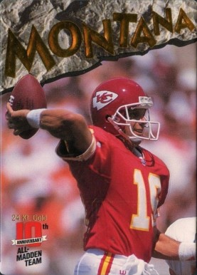 1993 Action Packed All Madden 24K Gold  Joe Montana #5 Football Card