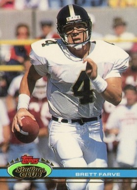 1991 Stadium Club Football Super Bowl XXVI Brett Favre #94 Football Card