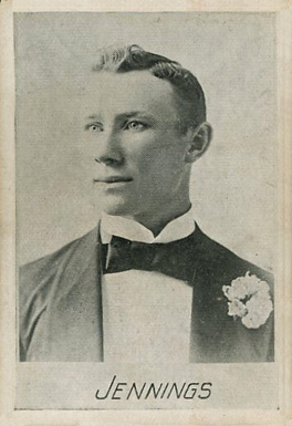1894 Alpha Photo Engraving Hugh Jennings #9 Baseball Card