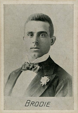 1894 Alpha Photo Engraving Steve Brodie #2 Baseball Card
