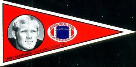 1979 NFLPA Pennant Stickers Terry Bradshaw #7R Football Card