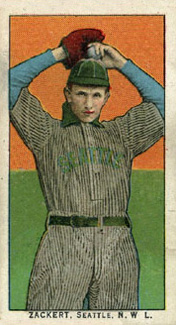 1911 Obak (Red Back) George Zackert #173 Baseball Card