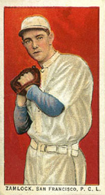 1911 Obak (Red Back) Carl Zamlock #174 Baseball Card