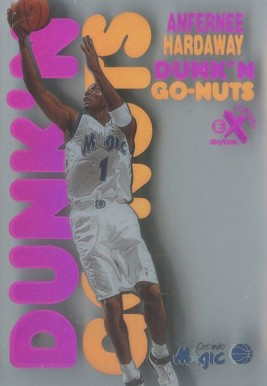 1998 E-X Century Dunk 'N Go Nuts Anfernee Hardaway #17 Basketball Card