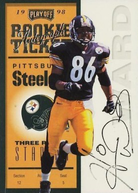 1998 Playoff Contenders Ticket Autographed Hines Ward #94 Football Card