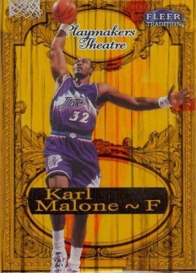 1998 Fleer Tradition Playmakers Theatre Karl Malone #10 Basketball Card