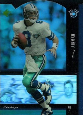 1994 SP All-Pro Holoview Die-Cut  Troy Aikman #9 Football Card