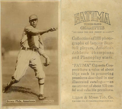 1914 Fatima Player Cards Boardwalk Brown #8 Baseball Card