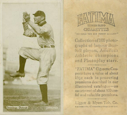 1914 Fatima Player Cards Hughie Jennings #19 Baseball Card