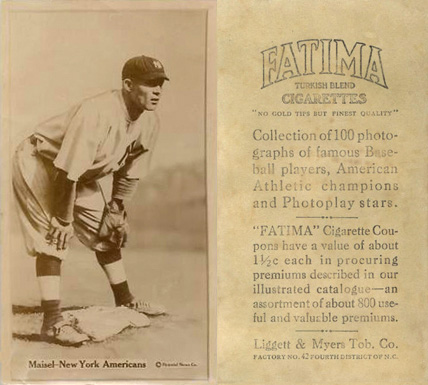 1914 Fatima Player Cards Fritz Maisel #29 Baseball Card