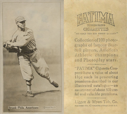 1914 Fatima Player Cards Amos Strunk #47 Baseball Card