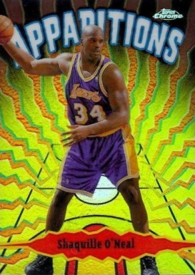 1998 Topps Chrome Apparitions Refractors Shaquille O'Neal #5 Basketball Card