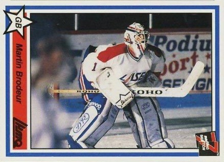 1990 7th Inning Sketch QMJHL Martin Brodeur #222 Hockey Card