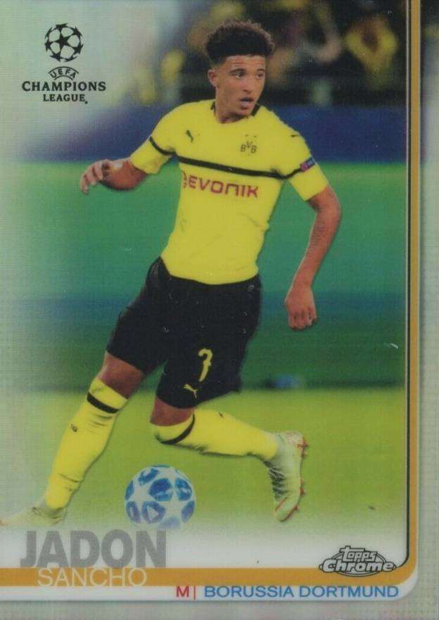 2018 Topps Chrome UEFA Champions League Refractors Jadon Sancho #86 Boxing & Other Card