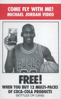 1989 Coca-Cola 'Come Fly With Me' Michael Jordan  Michael Jordan #1 Basketball Card