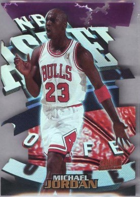 1997 Stadium Club Triumvirate Illuminator  Michael Jordan #T9B Basketball Card