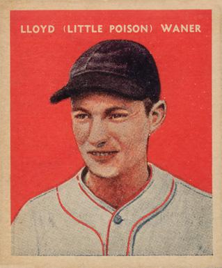 1932 U S Caramel Lloyd Waner 13 Baseball Card Value Price