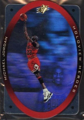 1996 SPx Holoview Heroes Michael Jordan #H1 Basketball Card