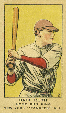 1919 W514 Strip Card Babe Ruth #2 Baseball Card